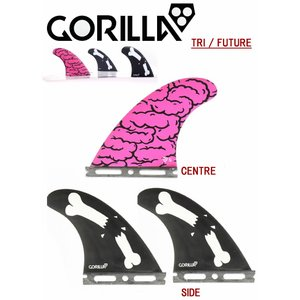 【新品】GORILLA FIN【BRAINS BONES BARS TRI FIN SET】SMALLサイズ ゴリラフィン Single Tad FUTURE|arasoan