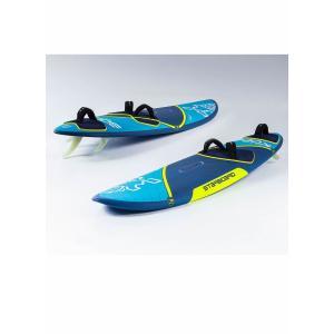 【メーカーお取り寄せ】STARBOARD(スターボード) 2020 ULTRAKODE  FLAX BALSA [BLUE×YELLOW] 80 ウインドサーフィン フィン付き|arasoan