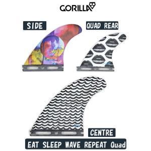 新品 GORILLA FIN【EAT SLEEP WAVE REPEAT QUAD 5枚 SET】トライでもクアッドでも!! フーチャータイプ MEDIUM ゴリラフィン Single Tad  大特価品!!|arasoan
