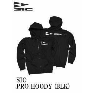 【新品】 SIC(エスアイシー) PRO HOODY [BLACK] フロントジップパーカー 防水・ 取り外し可能フード サイズ M|arasoan