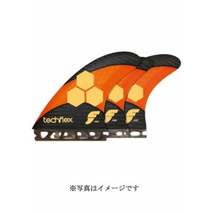 【新品】FUTURE(フューチャー)TECH FLEX FAM2 5FINS FIN[ORANGE/CARBON]12.0cm/11.4cm フィン5枚セット|arasoan