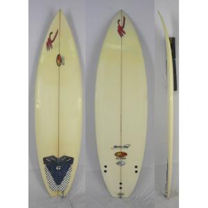 【中古】MC MICHAEL CUNDITH SURF DESIGNS (マイケルキャンディスサーフボード) ショートボード [CLEAR] 194cm サーフボード|arasoan