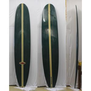 【中古】FINE LINE SURF BOARDS (ファインラインサーフボード) ステップデッキ ロングボード [GREEN]10'0