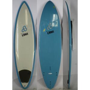 【中古】surftech(サーフテック) CHANNEL ISLANDS TUFLITE サーフボード [Gray/Blue] 7'0