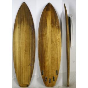 【中古】FIREWIRE ( ファイヤーワイヤー ) Almond Butterモデル サーフボード [Wood] 6'6