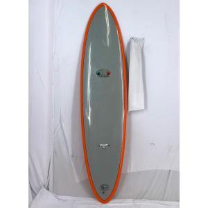 【中古】Hawaiian Pro Designs(ハワイアンプロデザイン)サーフボード Flo Eggモデル [Gray/Orange] 7'0