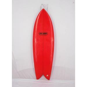 """【中古】 SUN WAVE (サンウェーブ)ショートボード [RED]5'4"""" ツインフィン サーフボード arasoan"""