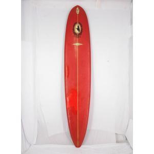 """【中古】MABO ROIAL(マーボロイヤル) ロングボード [RED]9'10"""" サーフボード"""