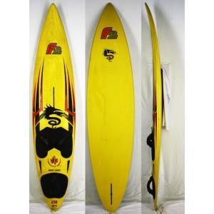 【中古】F2 ウインドサーフィンサーフボード Shape by PeterThommen [yellow] 8'2