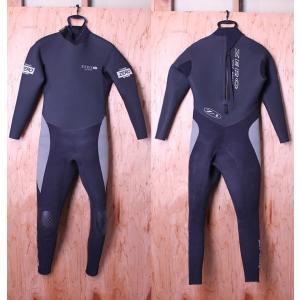 【中古】ZERO(ゼロ)ウェットスーツ[Black]メンズ 5/4/3mm バックジップ セミドライ フルスーツ|arasoan