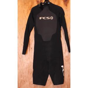 【中古】FCS(エフシーエス)ウェットスーツ[Black]メンズ サイズL  3/2mm バックジップ ロングスプリング|arasoan