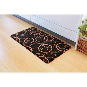 キッチンマット つまづきにくい ポリウレタン100% 約50×90cm(厚み約15mm)|araya