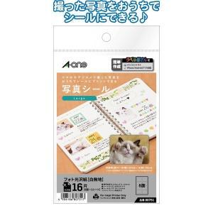 日本製 made in japan A-one写真シール16片Large39×29mm80751 32-981 〔10個セット〕|araya