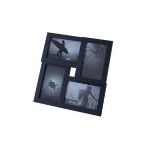 モダン フォトフレーム/写真立て 〔マルチ型 ブラック〕 幅30cm ガラス 〔リビング ダイニング 寝室 ベッドルーム〕|araya