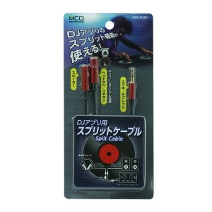 ミヨシ(MCO) DJアプリ用スプリットケーブル レッド SAD-DJ01/RD araya
