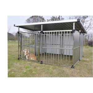 ドッグハウス DFS-M2   1坪タイプ屋外用犬小屋  大型犬 犬小屋 ステンレス製 組立品 代引不可|araya
