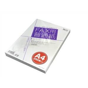 ミヨシ(MCO) FAX用紙(A4サイズ) 250枚いり FXP-250 〔5個セット〕|araya