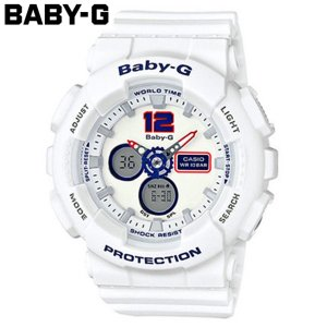 カシオ CASIO ベビーG BABY-G トリコロールシリーズ クオーツ レディース 腕時計 BA-120TR-7B ホワイト ホワイト|araya