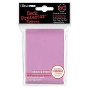 ピンク通常サイズ ソリッドデッキプロテクターハードスリーブ 50枚入り 91×66mm[330481]の商品画像 ナビ