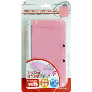 3DS TPUプロテクト 3L LL用(クリアピンク)(アンサー)