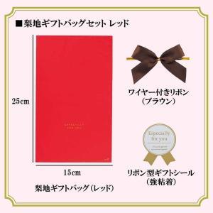 【ラッピング】梨地ギフトバッグセット(レッド) Sサイズ〔15×25cm〕 arc-online
