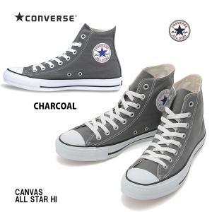 コンバース 25.5cm-30.0cm キャンバス オールスター ハイ チャコール Converse Canvas All Star HI Charcoal メンズサイズ ユニセックスハイカットスニーカー|arc-store