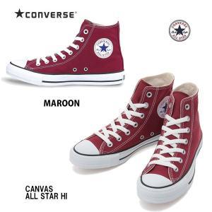 コンバース 25.5cm-30.0cm キャンバス オールスター ハイ マルーン Converse Canvas All Star HI Maroon  メンズサイズ ユニセックスハイカットスニーカー|arc-store
