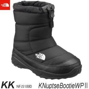 ザ ノースフェース 防水仕様(キッズ) ヌプシブーティーウォータープルーフIIThe North Face K Nuptse Bootie WP II  NFJ51880 (KK)TNFブラック×ブラック|arc-store