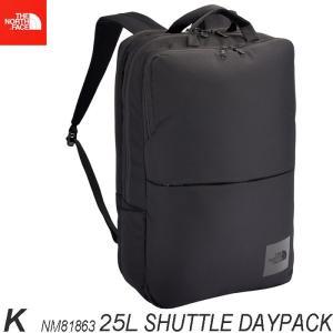 ザ ノースフェイス  シャトル デイパック 25L  The North Face Shuttle Daypack  NM81863 K FO ブラック|arc-store