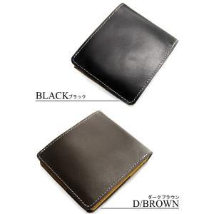 牛革 本革 財布 メンズ 財布 二つ折り メンズ サイフさいふ スマートデザイン ブランド レザーメンズファッション|arcade|04