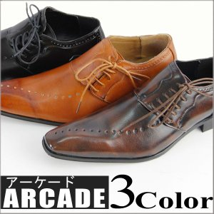ビジネスシューズ/メンズ/ビジネスシューズ/靴/パンチングレースアップビジネスシューズ|arcade