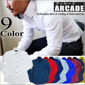 シャツ/白シャツメンズ/日本製ブロードデュエボタンダウンシャツ|arcade
