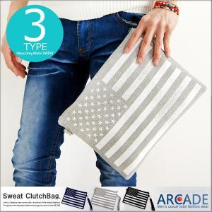 クラッチバッグ スウェット 星条旗(アメリカ/国旗) クラッチバッグ メンズ レディース小さめ|arcade