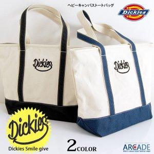 Dickies ディッキーズ トートバッグ smile スマイル キャンバス トート バッグ 大口 大容量 A4 軽量 メンズ レディース 男女兼用 ユニセックス|arcade