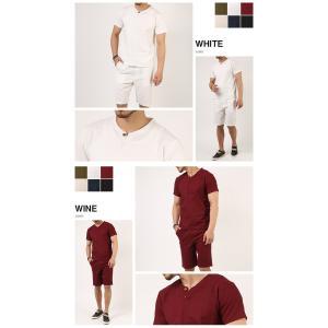 上下セットアップ 綿麻リネン キーネックカットソー×ショートパンツ メンズファッション ボトムス トップス ショートパンツ メンズ セール 送料無料|arcade|06