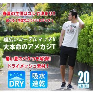 Tシャツ メンズ 吸汗速乾 半袖T ドライメッシュ素材 アメカジ Tシャツ カレッジ トップス メンズ|arcade|02