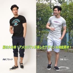 Tシャツ メンズ 吸汗速乾 半袖T ドライメッシュ素材 アメカジ Tシャツ カレッジ トップス メンズ|arcade|09