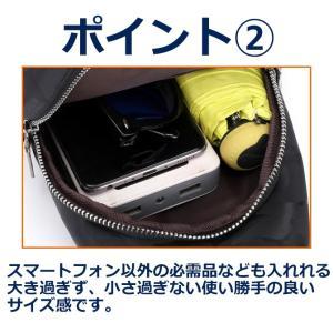 バッグで携帯充電 USBポート搭載 ケーブル付 ボディバッグ メンズ レディース ワンショルダー ボディーバッグ おしゃれ 軽量 斜めがけ ウエストポーチ|arcade|04