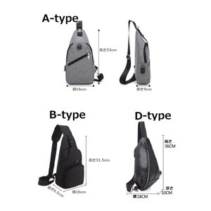 バッグで携帯充電 USBポート搭載 ケーブル付 ボディバッグ メンズ レディース ワンショルダー ボディーバッグ おしゃれ 軽量 斜めがけ ウエストポーチ|arcade|07