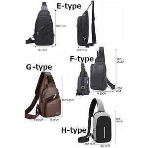 バッグで携帯充電 USBポート搭載 ケーブル付 ボディバッグ メンズ レディース ワンショルダー ボディーバッグ おしゃれ 軽量 斜めがけ ウエストポーチ|arcade|08
