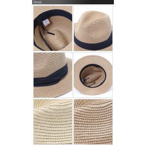 パナマ帽 パナマハット ストローハット メンズ ハット 中折 調節ヒモ付き ペーパー 麦わら帽子 中折ハット セール|arcade|04