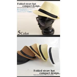 パナマ帽 ハット ペーパー 中折れ ストローハット コンパクトデザイン メンズ レディース 麦わら帽子 メンズファッション セール 送料無料|arcade|02