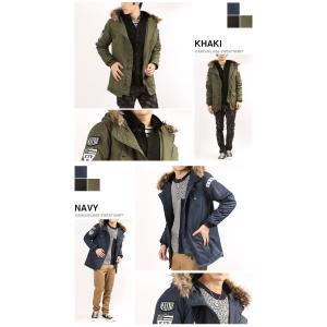 N3B メンズ ワッペン付き 中綿 ミリタリージャケット コート 防寒 ブルゾン 秋冬|arcade|05