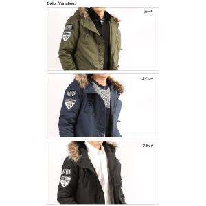 N3B メンズ ワッペン付き 中綿 ミリタリージャケット コート 防寒 ブルゾン 秋冬|arcade|06