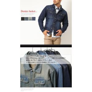 売り尽くし 破格 セール デニム ジャケット Gジャン 加工デニム Gジャン メンズ デニムシャツ|arcade|02