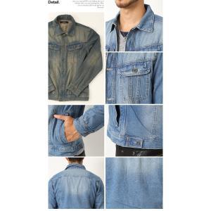 売り尽くし 破格 セール デニム ジャケット Gジャン 加工デニム Gジャン メンズ デニムシャツ|arcade|03