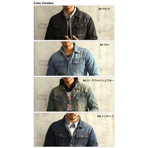 売り尽くし 破格 セール デニム ジャケット Gジャン 加工デニム Gジャン メンズ デニムシャツ|arcade|06