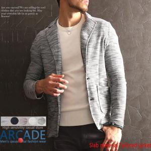 サマージャケット メンズ テーラードジャケット メンズ スラブ素材 薄手 春ジャケ 2つボタン 2019 春 新作|arcade