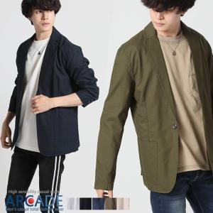 2019 春夏 新作 サマージャケット メンズ 綿麻 テーラードジャケット 夏 リネン ジャケット メンズ 7分袖ジャケット 夏男|arcade