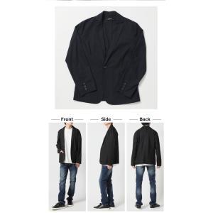 2019 春夏 新作 サマージャケット メンズ 綿麻 テーラードジャケット 夏 リネン ジャケット メンズ 7分袖ジャケット 夏男|arcade|03